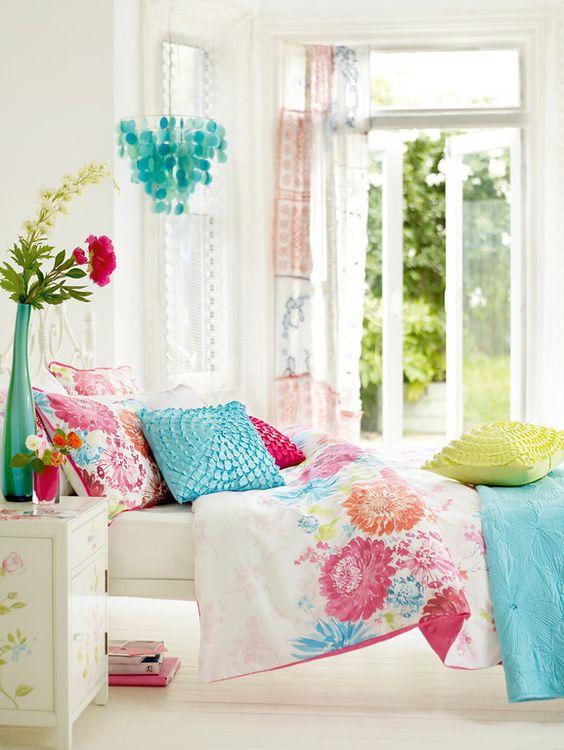 Habitacion Teenage Girl Blanco y Multicolor