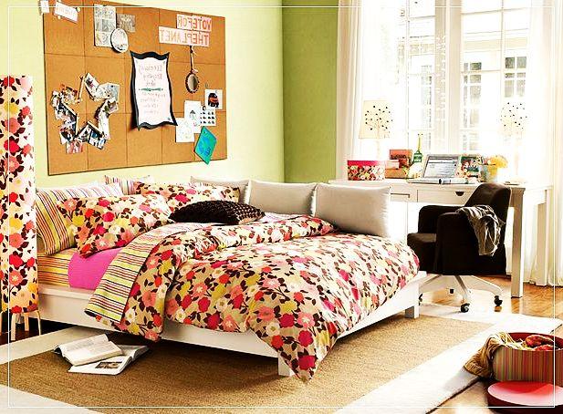 Teen Girl Flowers y Verde