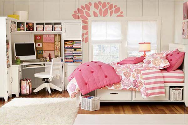 Teen Room Blanco con Rosa