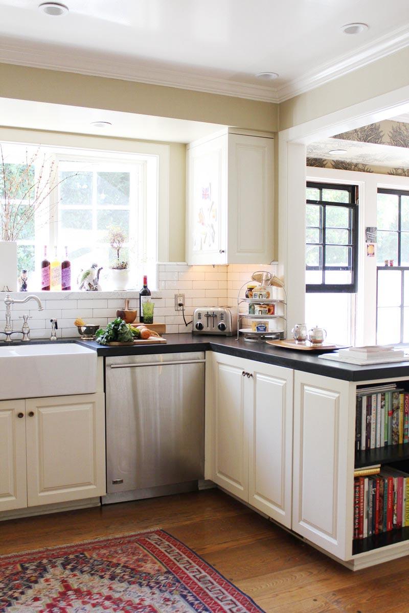 cocina blanca esquina