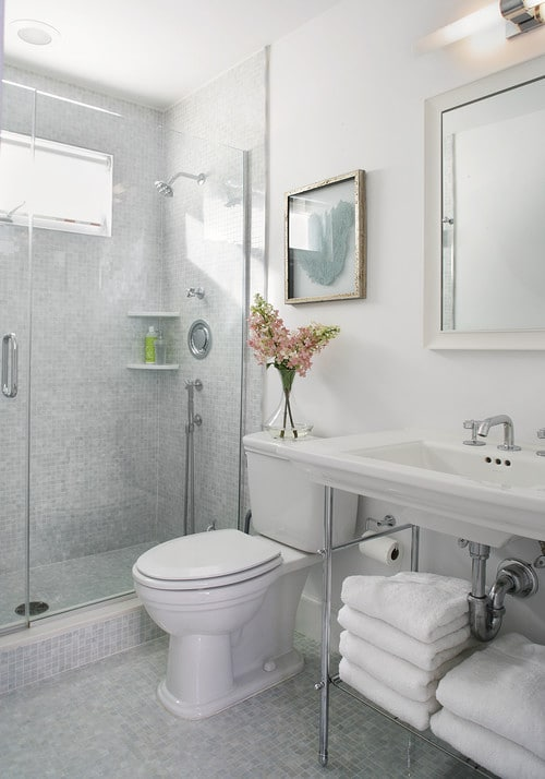 small bath with shower