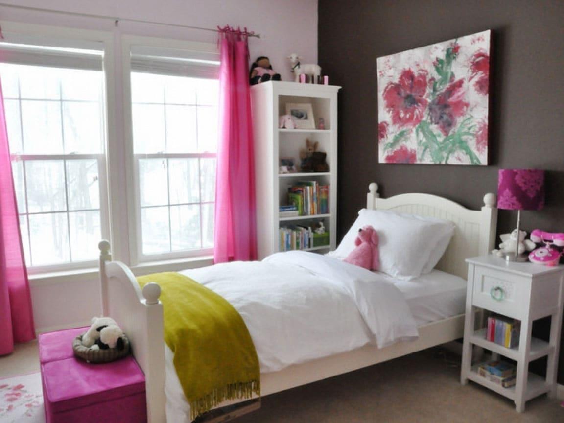 Teenage Girl Room Blanc y Rosado