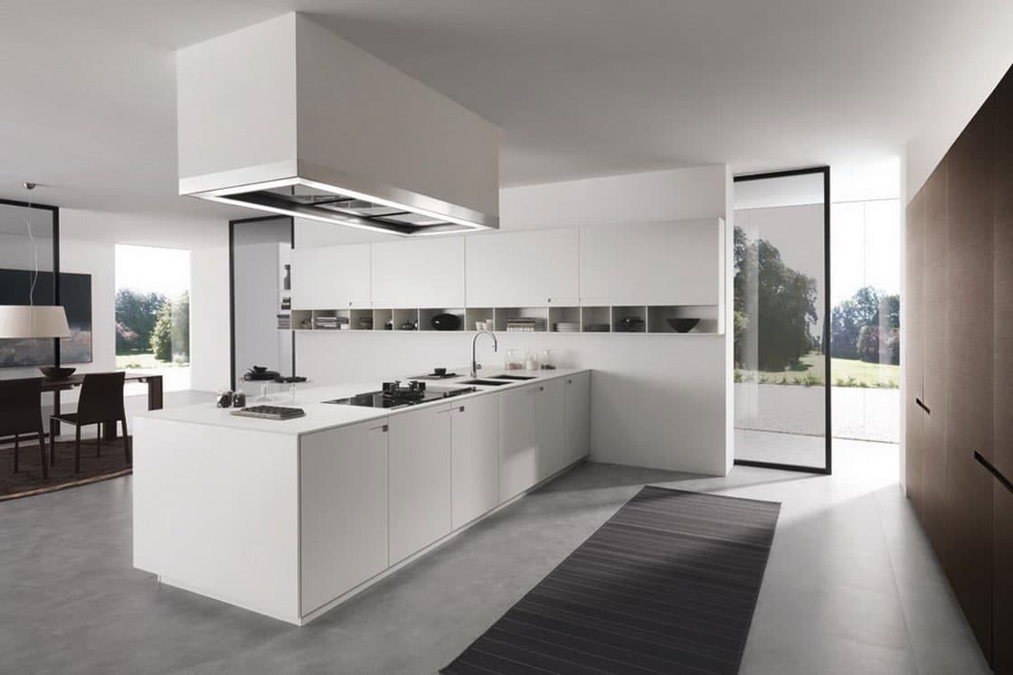 cocina de lujo moderna blanca