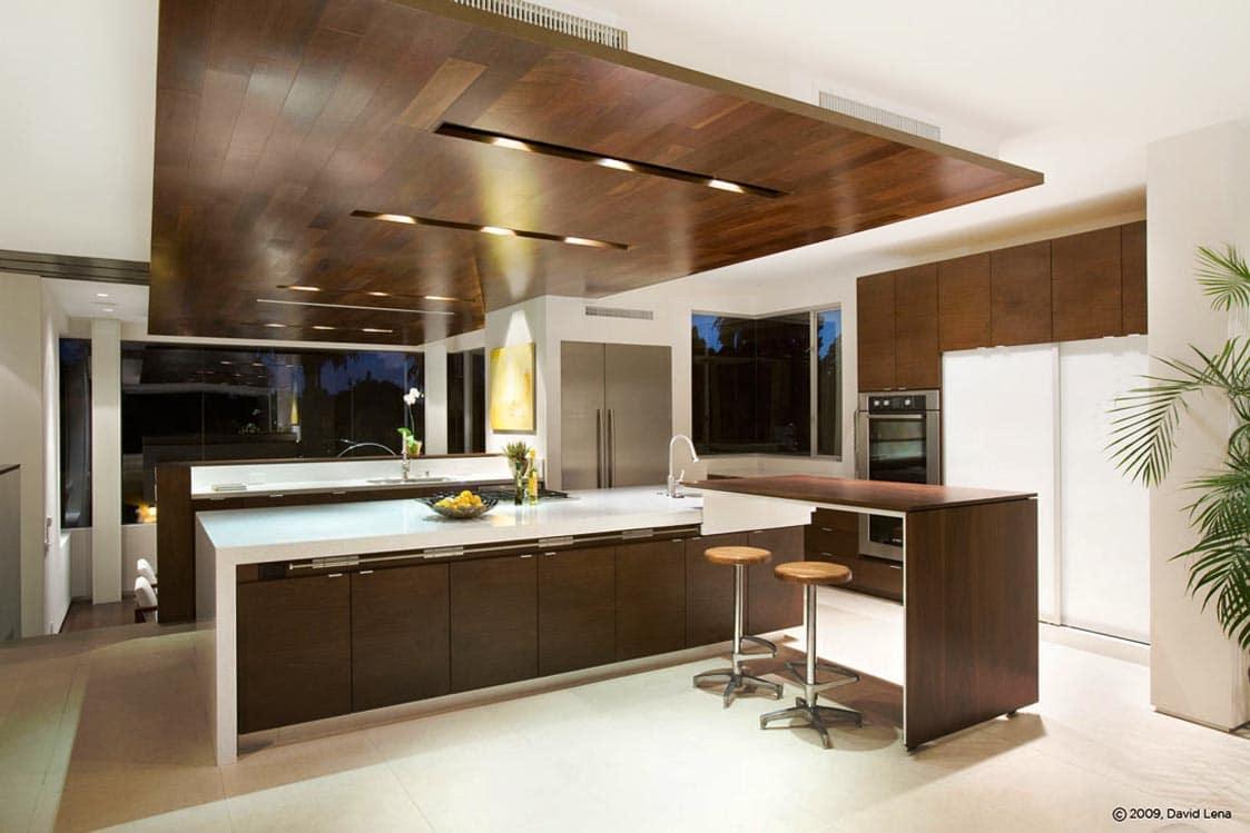 cocina de lujo moderna cafe