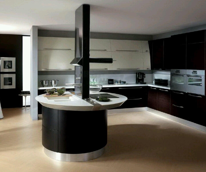 cocina de lujo moderna con isla