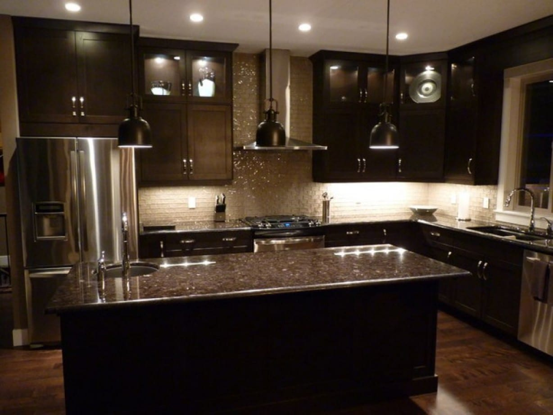 cocina de lujo moderna lamparas negras