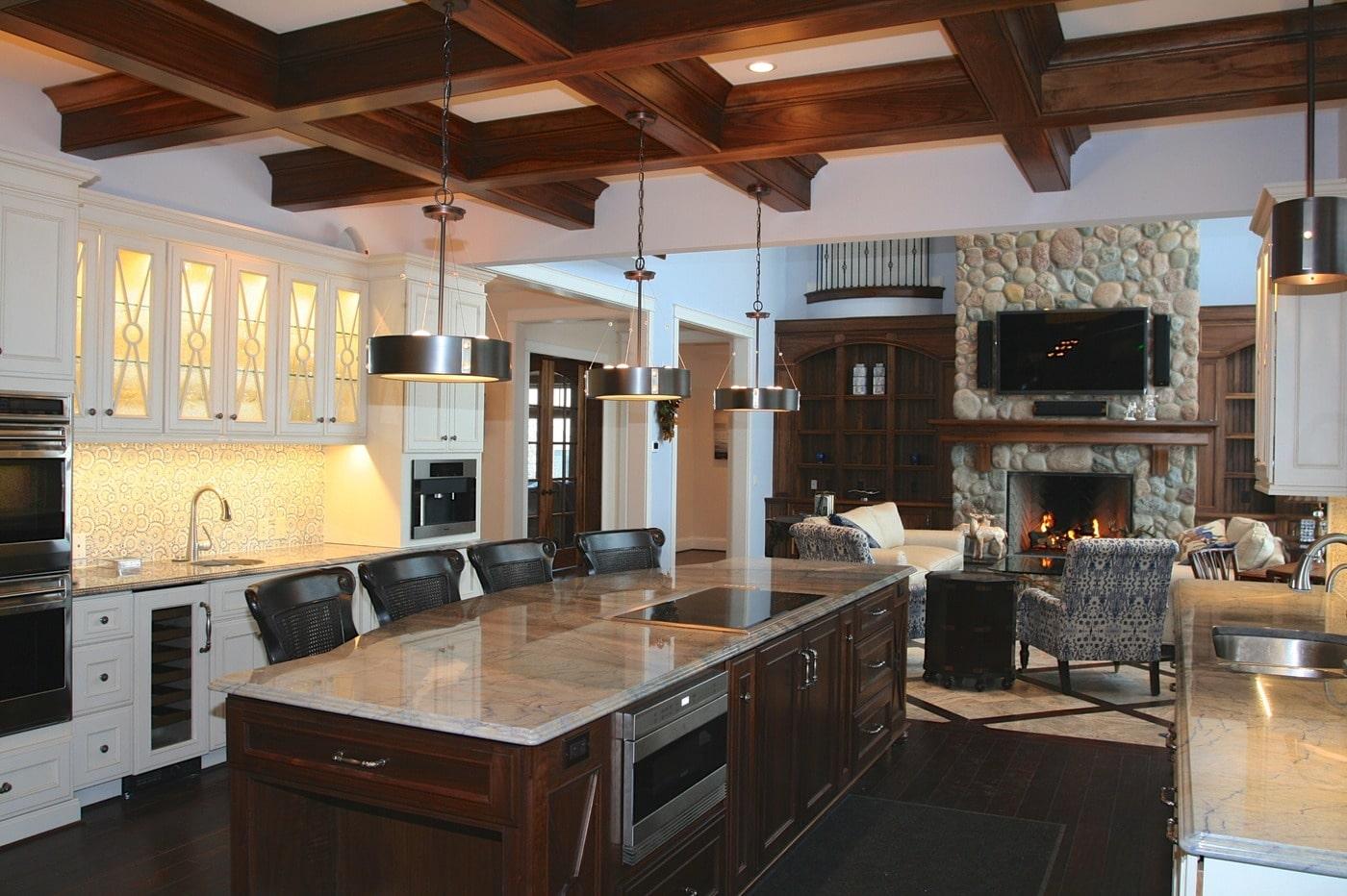 cocina de lujo rustica moderna