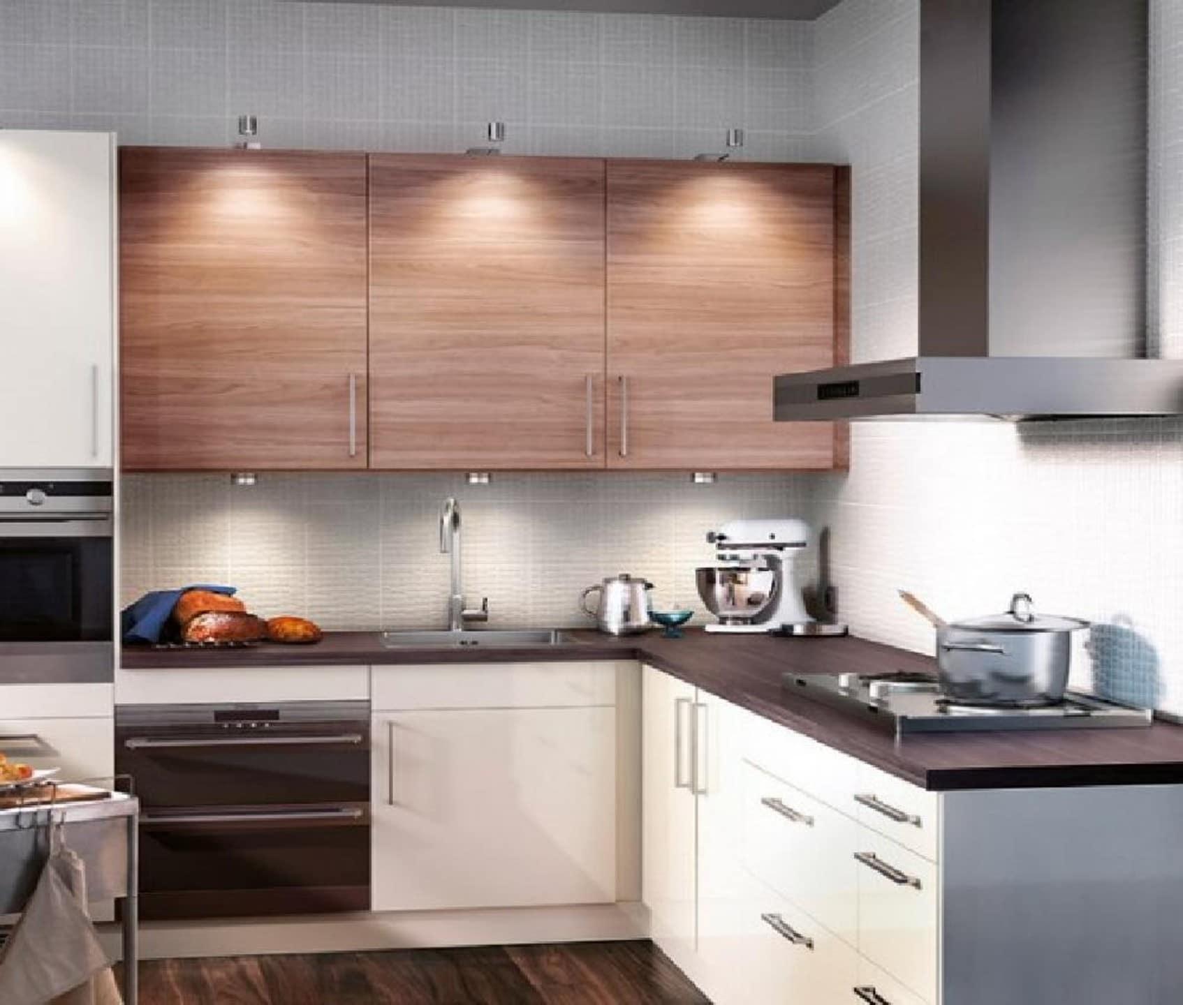 cocina pequena madera
