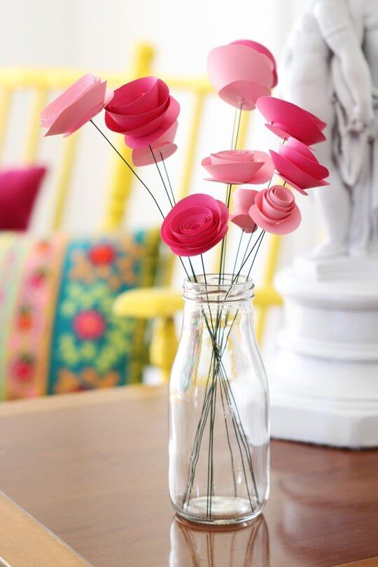 Rosas en espiral