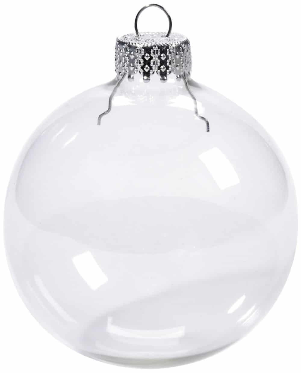 bolas de navidad transparente con capuchón