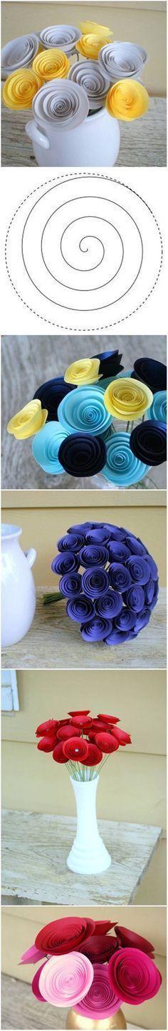 Flores en espiral