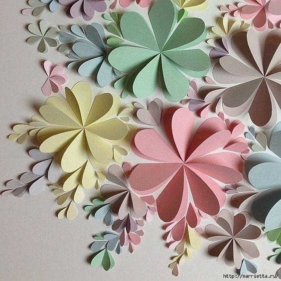 Flores Tridimensionales Para Pared