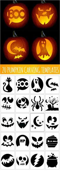 03 Plantillas para tallar calabazas de halloween