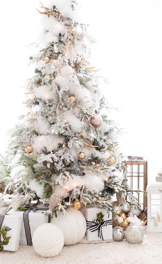10 arbol de navidad BLANCO Y PASTEL