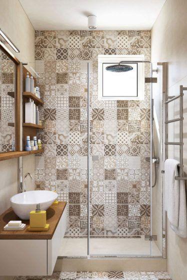 10 azulejos antiguos en el baño