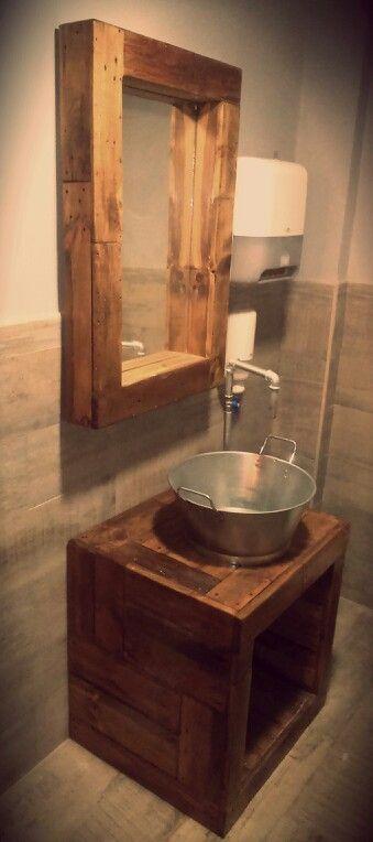 11 baño rústico