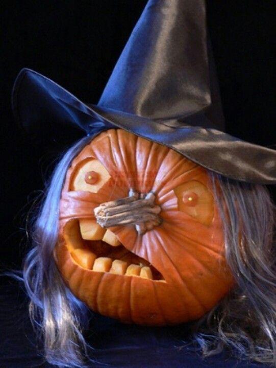 11 calabaza de halloween bruja