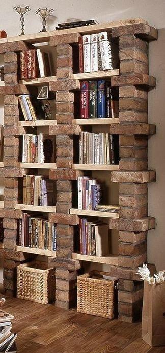 19 biblioteca con ladrillos