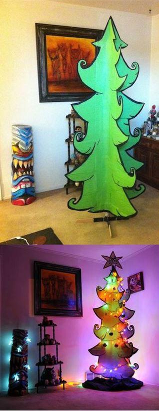 34 arbol de navidad de cartón
