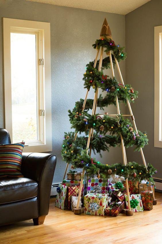 40 arbol de navidad con POCO PRESUPUESTO