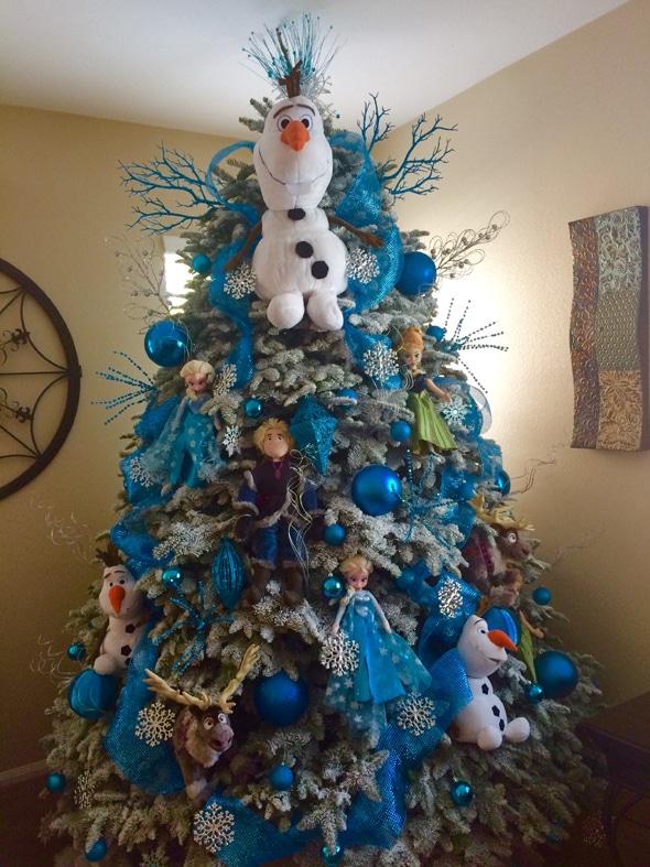 45 arbol de navidad Frozen