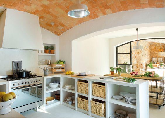 10 Cocina obra con cestas