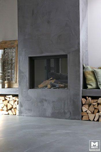 10 chimenea moderna en pared lisa