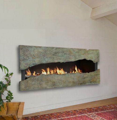 22 chimenea moderna y rústica