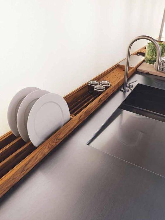 24 Rack de madera para escurrir platos