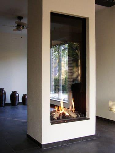 26 chimenea en columna de vidrio