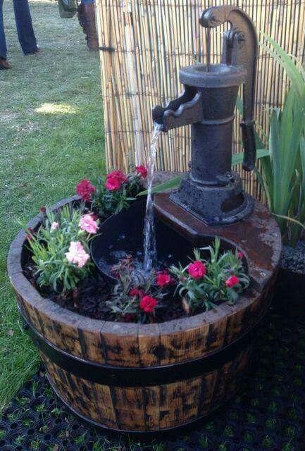 30 barril con flores