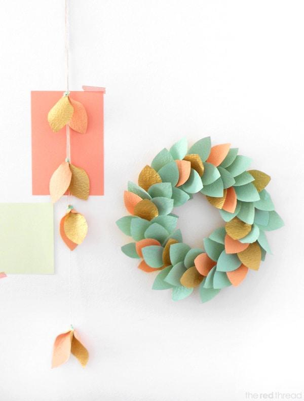 30 corona-de-navidad-de-papel