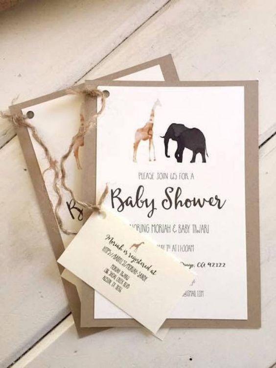 10 INVITACIONES BABY SHOWER RUSTICAS