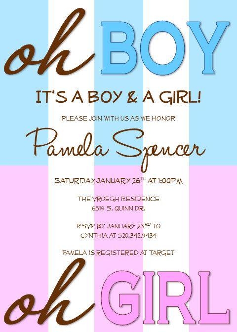 42 INVITACIONES BABY SHOWER GEMELOS