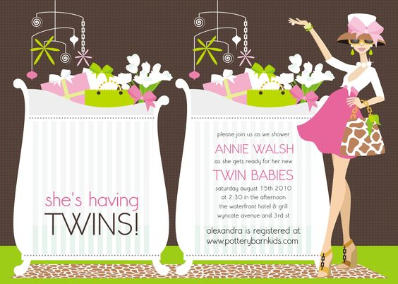 43 INVITACIONES BABY SHOWER GEMELOS