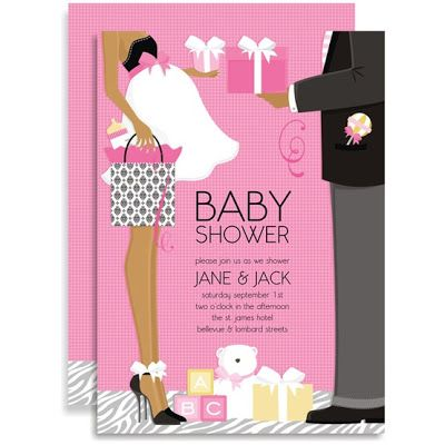 54 INVITACIONES BABY SHOWER GLAMOROSO