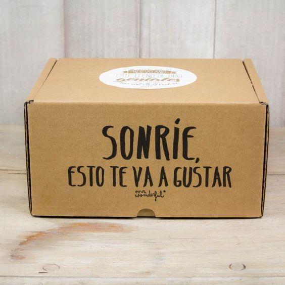 caja con mensaje