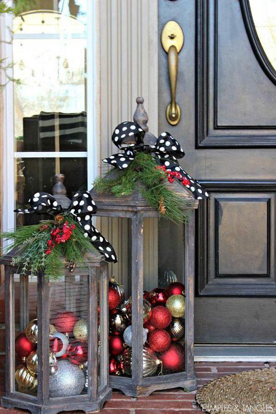 decoracion navideña de entrada