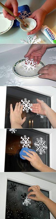 manualidad copo de nieve