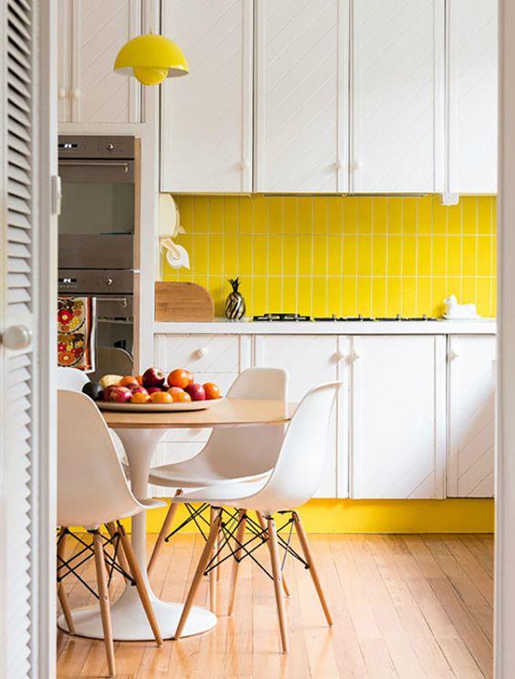 cocina color amarillo