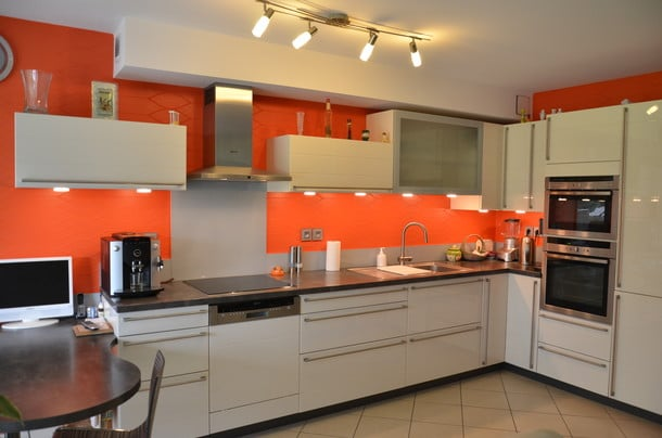 cocina color naranja 2018