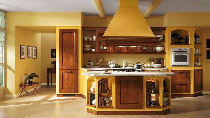 extraordinaria cocina en color amarillo