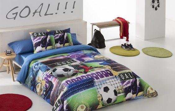 funda con diseño de futbol