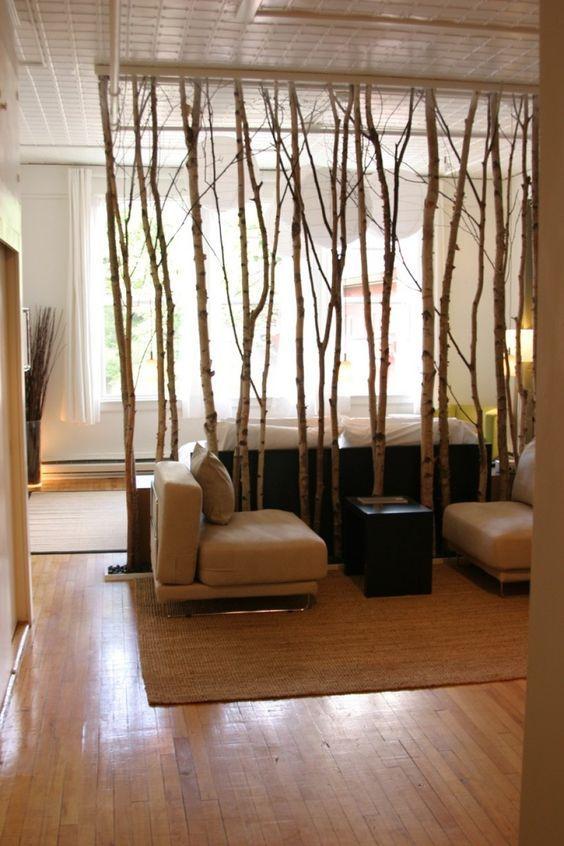 separador de ambiente elaborado con bambu