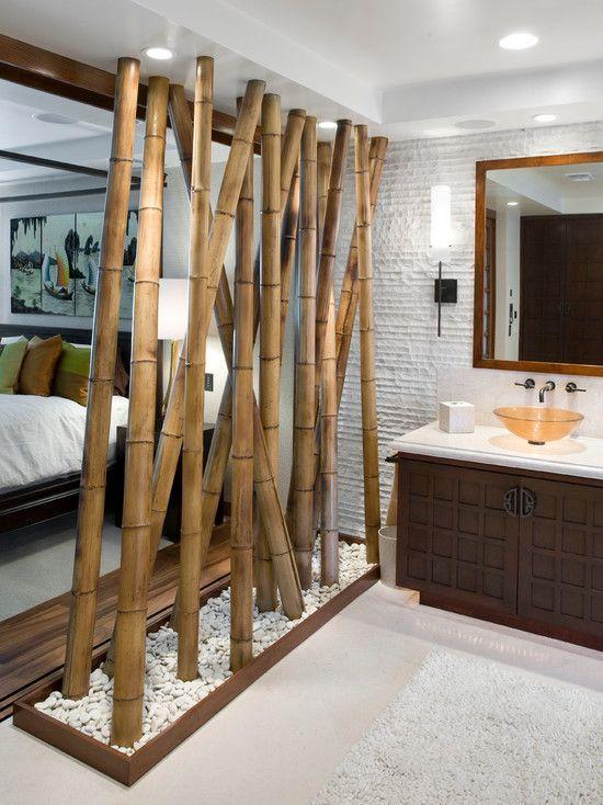 separador de ambiente hecho con bambu