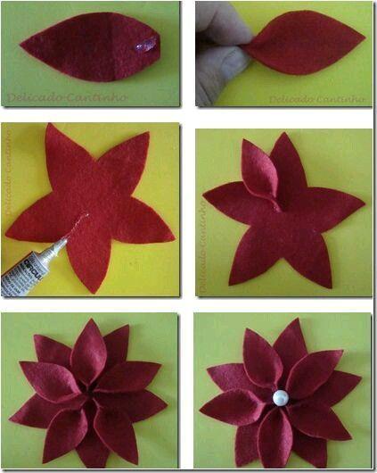 flor en color vino