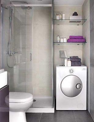 lavadora ubicada en el baño