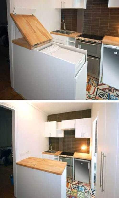práctica lavadora de cocina