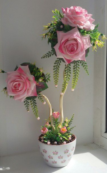 rosas elegantes de goma eva