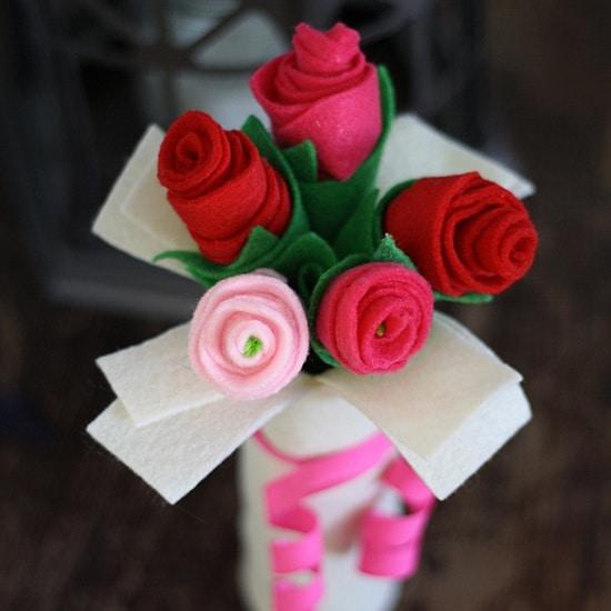 rosas en goma eva